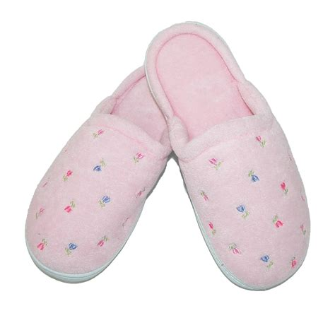 totes isotoner slippers womens terry scalloped embroidered clog slippers by totes