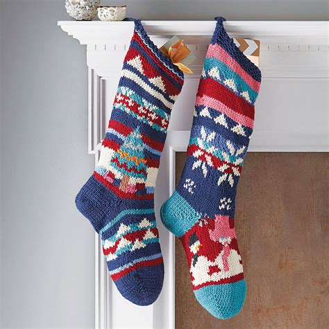 images of knitted christmas stockings hand knitted christmas stocking by chunkichilli