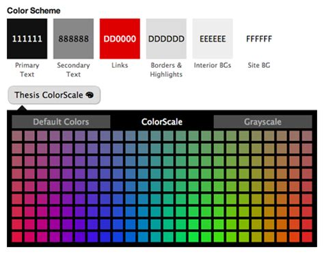 color scheme picker diythemes run a killer website with the thesis wordpress