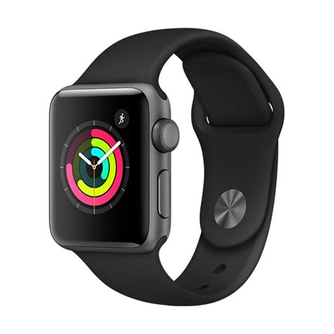 apple series 3 gps 38mm space grey aluminium