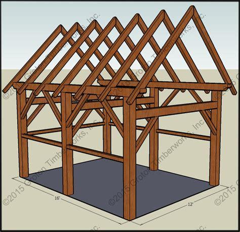 Timber Frame Shed Design by Ulisa Timber Frame Plans For Sheds
