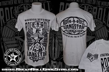 Tshirtkaos Rock N Roll alliance mens white burnout t shirt rock n roll heavy metal