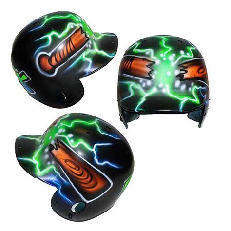design batting helmet mecabrush affordable airbrushed shirts and batting