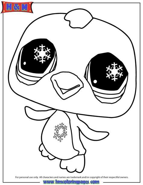littlest pet shop penguin coloring page  printable