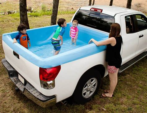 truck bed pool pickup pools a truck bed swimming pool 187 gadget flow