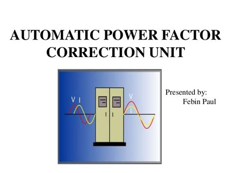 power factor correction lab experiment automatic power factor correction