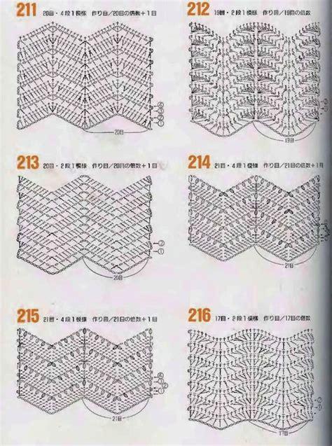 Zig Zag Crochet Pattern Chart | mes favoris tricot crochet tutos 40 points vagues au