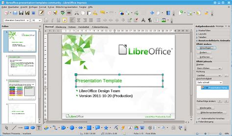 themes presentation libreoffice file libreoffice 3 4 impress withcontent german fedora 16