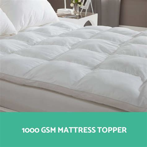bed pillow tops 1000gsm mattress topper pillowtop duck feather down pillow