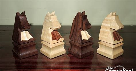 carmichael workshop making wooden knight chess pieces