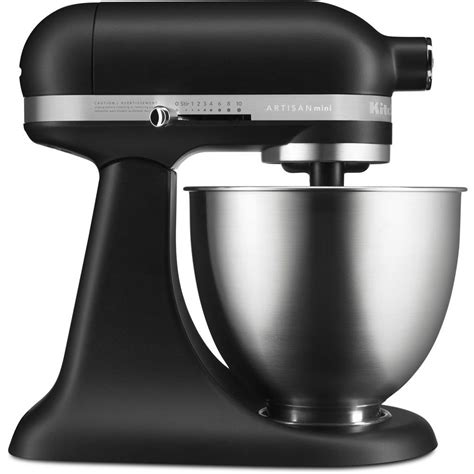 kitchen aid stand mixer kitchenaid artisan mini 3 5 qt tilt matte black stand mixer ksm3311xbm the home depot