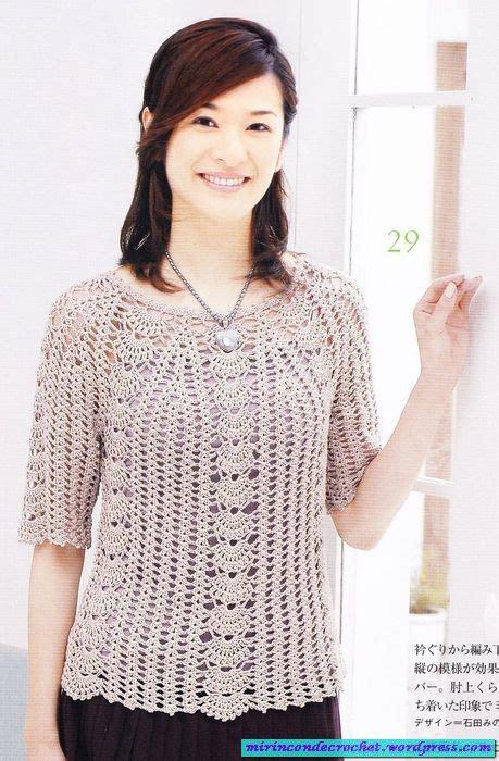 blusas de gancho blusas tejidas a gancho en crochet de moda 2012 car