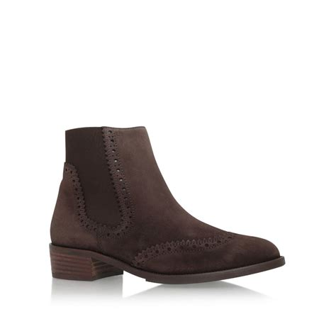paul green may low heel ankle boots in brown lyst