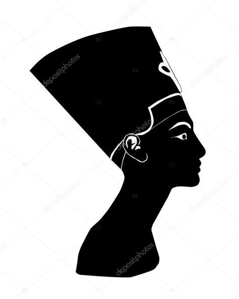 Black silhouette of Nefertiti — Stock Vector © mayboro
