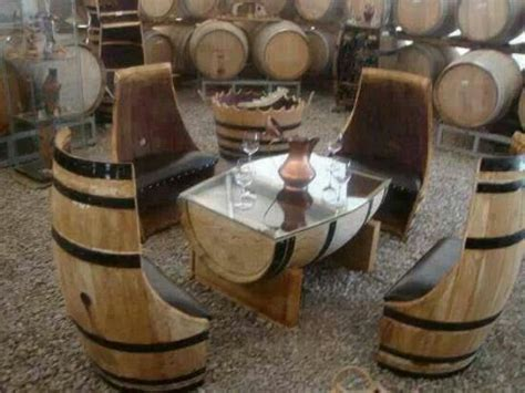 wine barrel patio set living space ideas pinterest