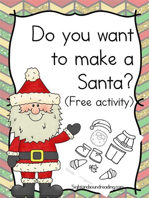 printable christmas cards activity village santa craft activity for kids the homeschool village