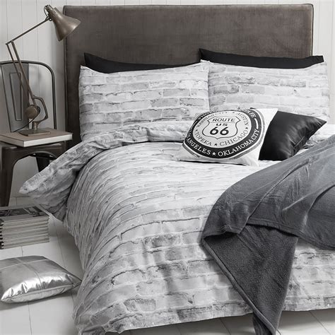 grey pattern duvet cover brick wall grey duvet cover and pillowcase set