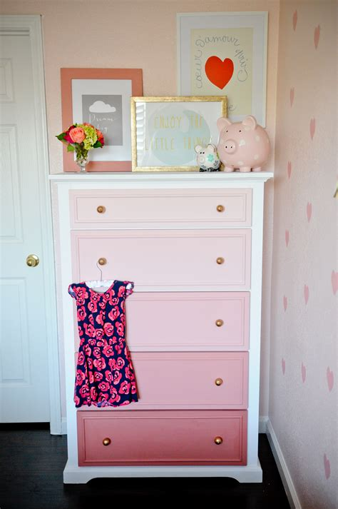 Diy Do It Yourself Miniature House Baby Room diy ombre dresser tutorial project nursery