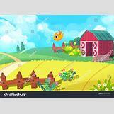 Cartoon Farm Scene | 1500 x 1098 jpeg 483kB