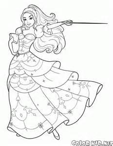 coloring page luxuriante vestido barbie