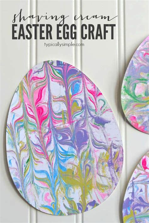 easy easter craft painting eggs 40 simple easter crafts for one project