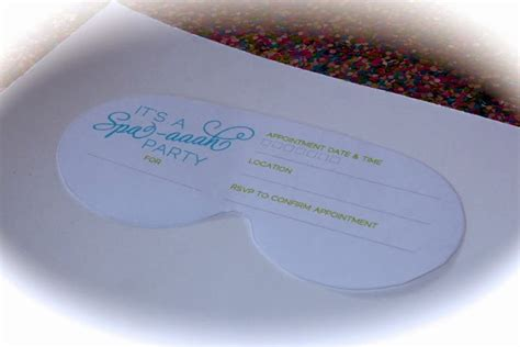spa mask invitation template bolling with 5 a spa aaahprise invitation to lilah s 5th