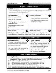 Ubd Template Lesson Plan by Ubd Plan Ubd