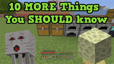 Minecraft Ps4 10 Things You Might Not Know 1 Tutorial - minecraft 10 more things you should know youtube