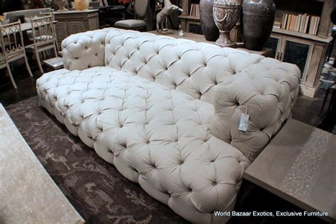 couches for tall people 102 quot w cool tall tufted sofa 100 soft linen beige