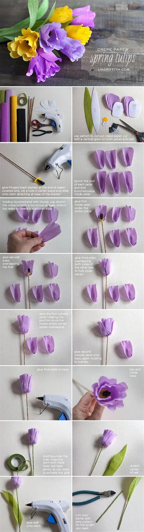 paper flower tutorial tulips diy crepe paper tulips voorjaar cr 234 pepapier bloemen en