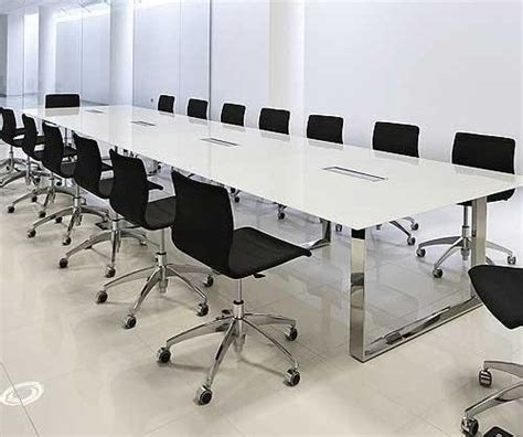 Glass Top Meeting Table Boardroom Table White With A Glass Top Elite Glass Table Glass Conference Table Office