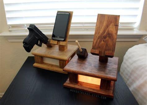 modern wood phone docking charging station
