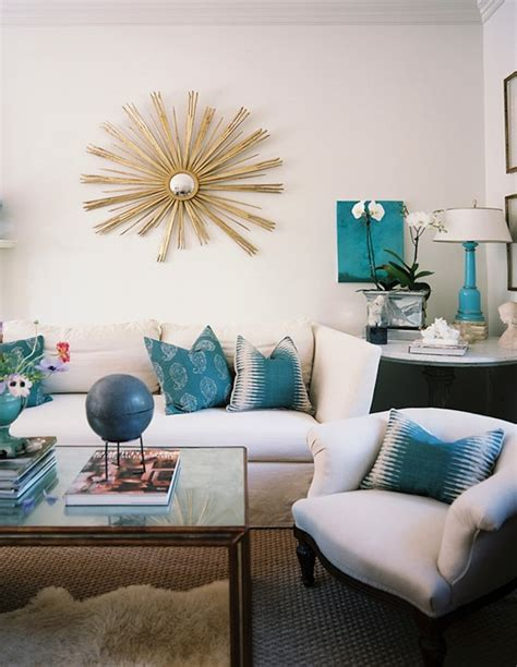 Turquoise Living Room Decor by Turquoise Blue L Design Ideas