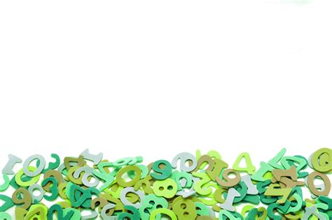 background design numbers free stock photo 7012 green numbers border freeimageslive