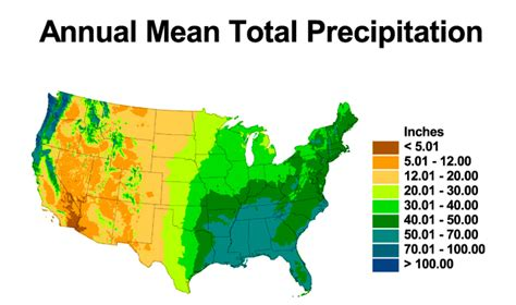 map us rainfall noaa 200th visions climate research maps showing annual