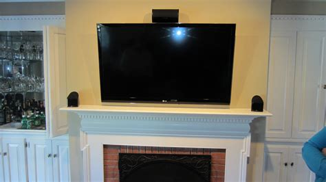 Concealed Tv Fireplace by Wallingford Ct Mount Tv On Wall Home Theater Installation