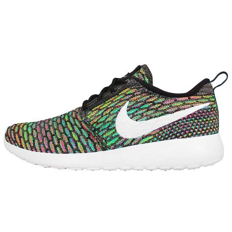 rainbow nike sneakers womens wmns nike rosherun flyknit roshe run multi color