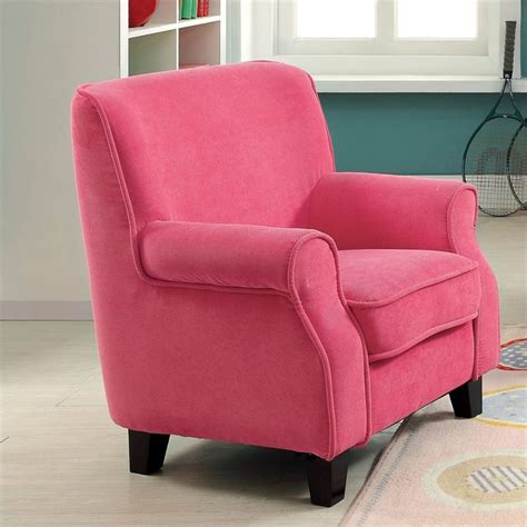 pink upholstered chairs furniture of america taliah upholstered chair in pink