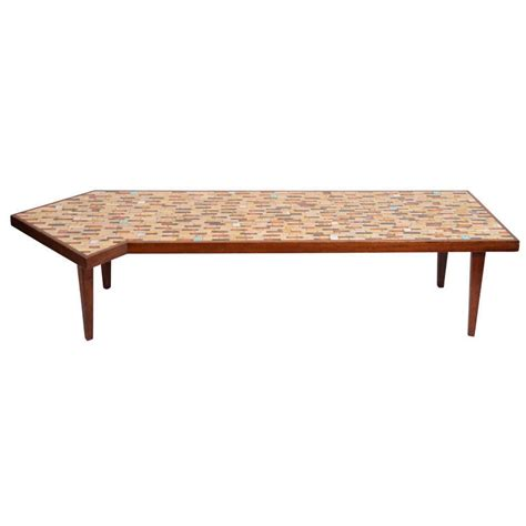 Tiled Coffee Table Hohenberg Mosaic Tile Top Coffee Table At 1stdibs