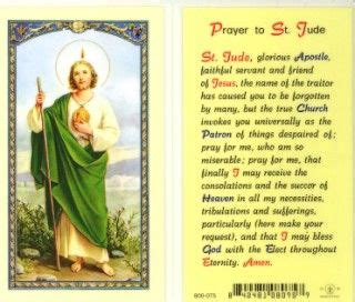 St Jude The Patron Saint Of Lost Causes I Need His
