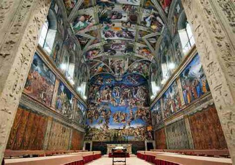 michelangelo the ceiling of the sistine chapel in the