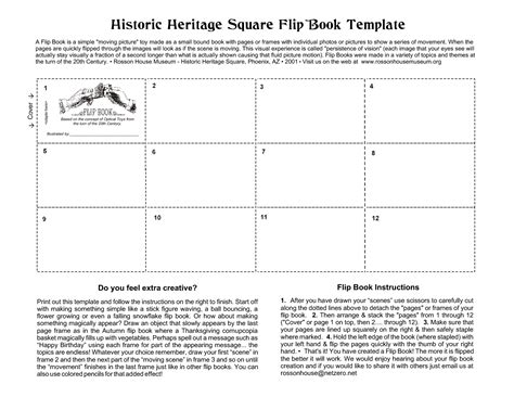 Flip Book Template Beepmunk Flip Book Template