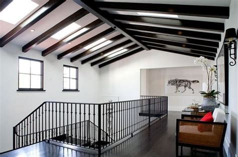White Ceiling Beams by How To Incorporate Ceiling Beams Into Your Style
