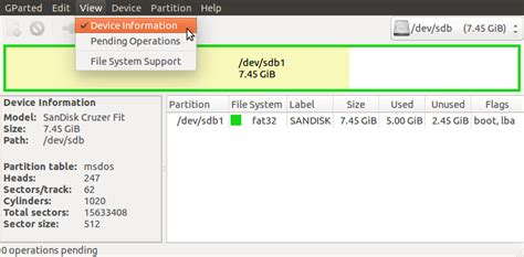format gpt with gparted partitioning how can i check and change the partition