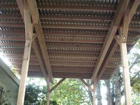 corrugated metal deck roof patio cover builder deck masters llc portland or