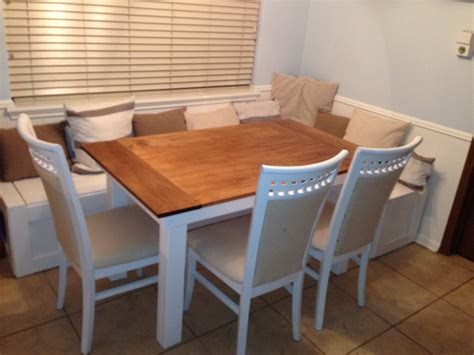 ana white breakfast nook benches  table diy projects