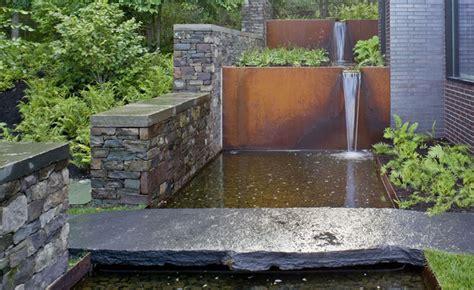 Diy Screen Print India corten steel waterfall industrial landscape