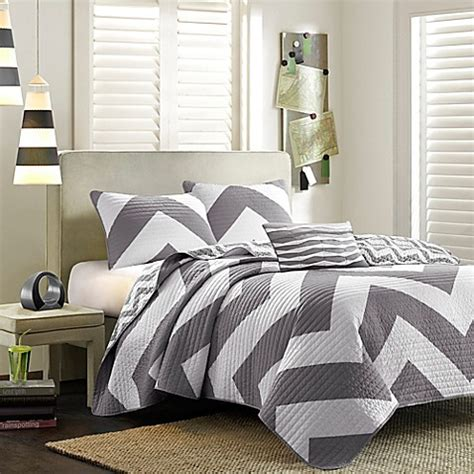 mizone libra coverlet set mi zone libra coverlet set in grey bed bath beyond