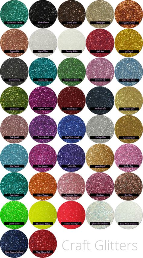 custom craft glitter mix 4 colors