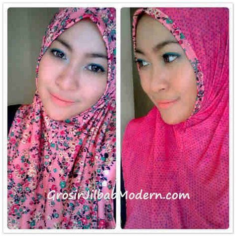 Mukena Polka Flower jilbab syria bolbal flow polka part 2 pink grosir jilbab